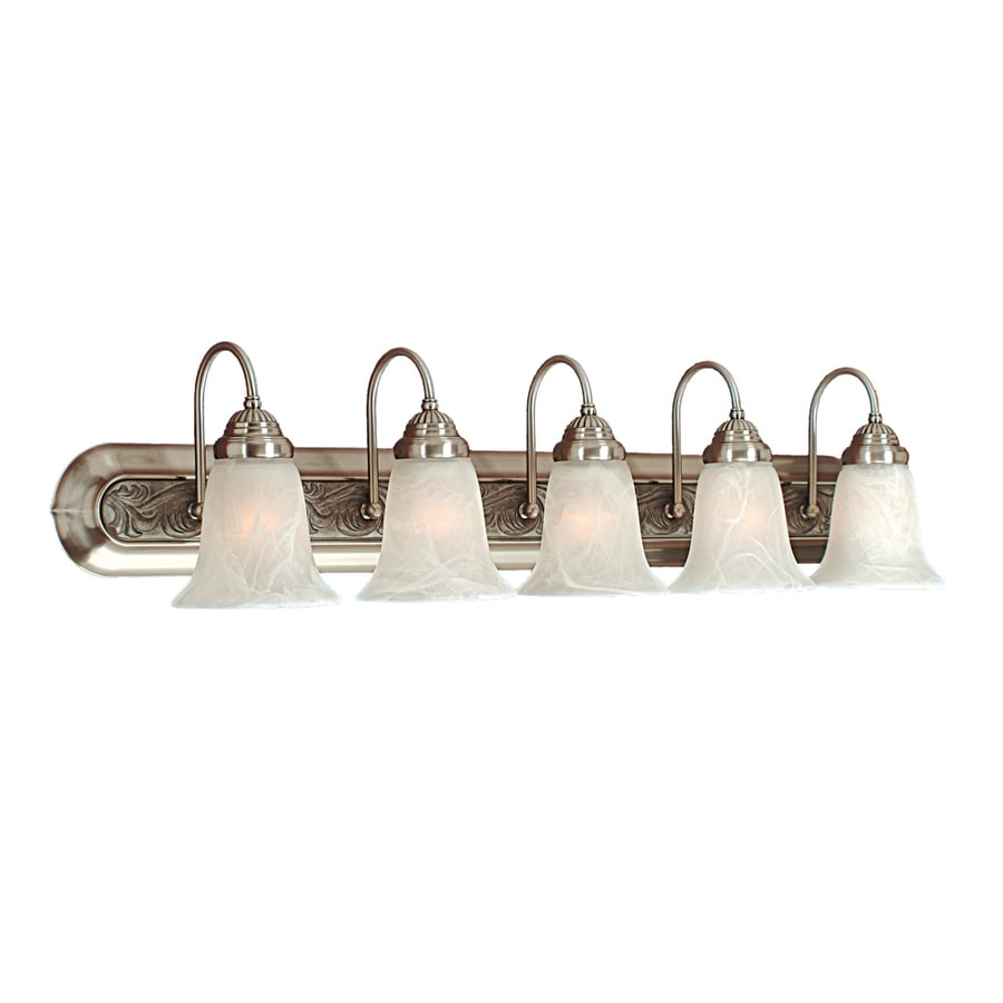 Millennium Lighting 5-Light 8-in Satin nickel Bell Vanity Light