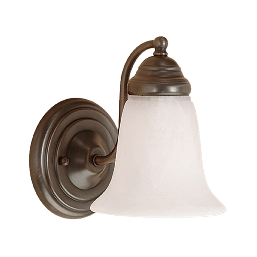 Millennium Lighting 1-Light 8-in Colonial Bronze Bell Vanity Light