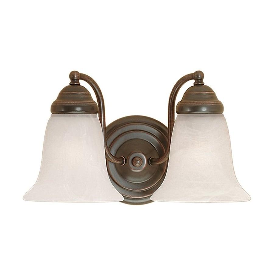 Millennium Lighting 2-Light 8-in Colonial Bronze Bell Vanity Light