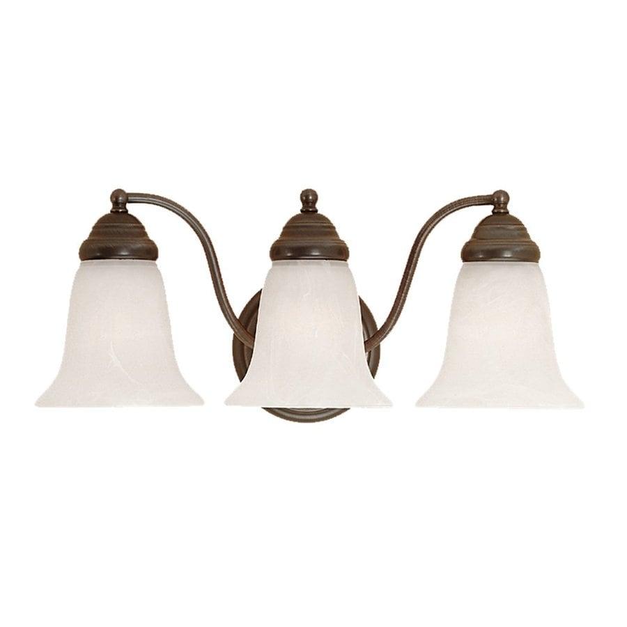 Millennium Lighting 3-Light 8-in Colonial Bronze Bell Vanity Light