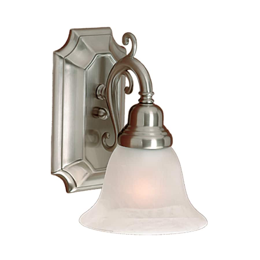 Vanity Lights Satin Nickel : Shop Millennium Lighting 1-Light 9.5-in Satin Nickel Bell Vanity Light at Lowes.com