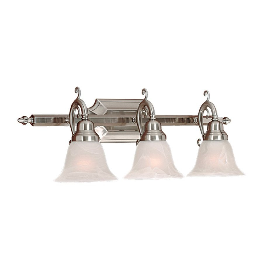 Millennium Lighting 3-Light 9.5-in Satin nickel Bell Vanity Light