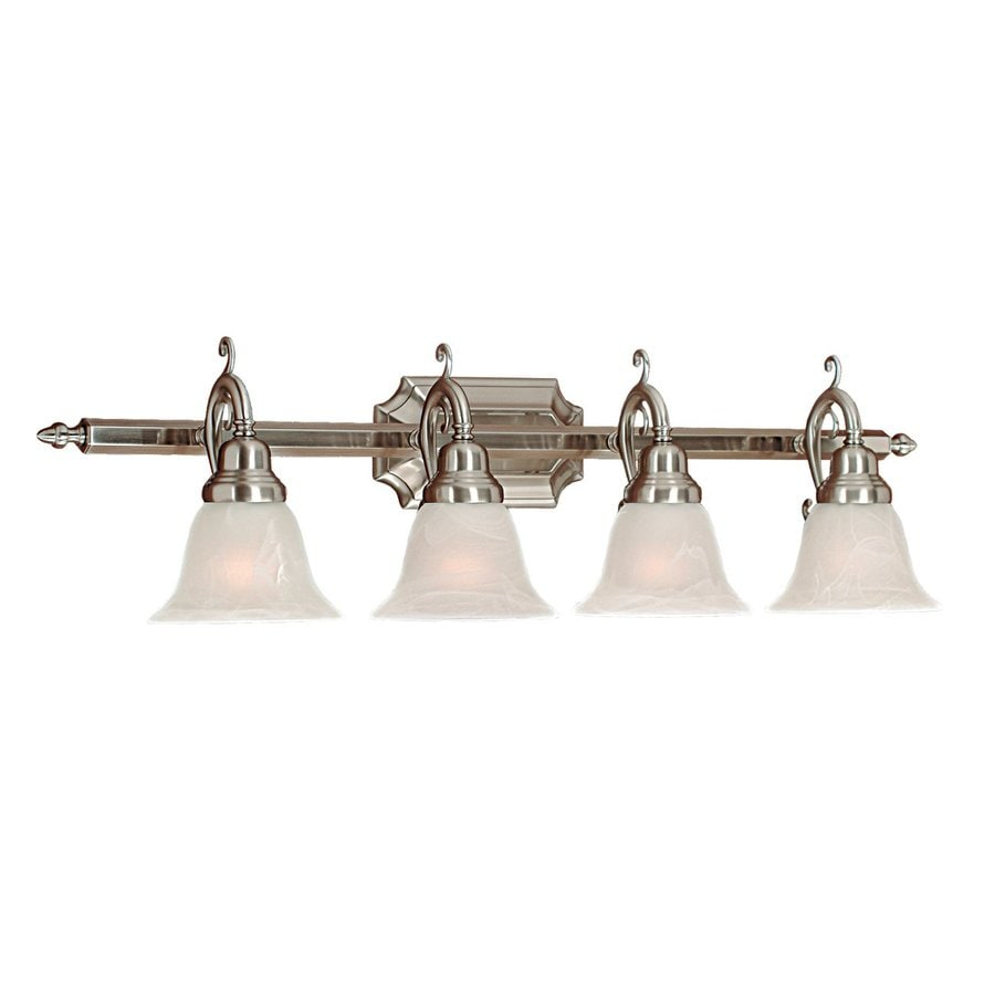 Millennium Lighting 4-Light 9.5-in Satin Nickel Bell Vanity Light