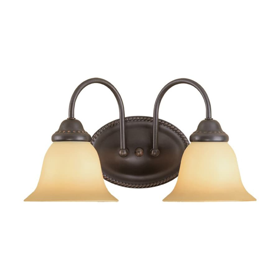 Millennium Lighting 2-Light 8.25-in Colonial Bronze Bell Vanity Light
