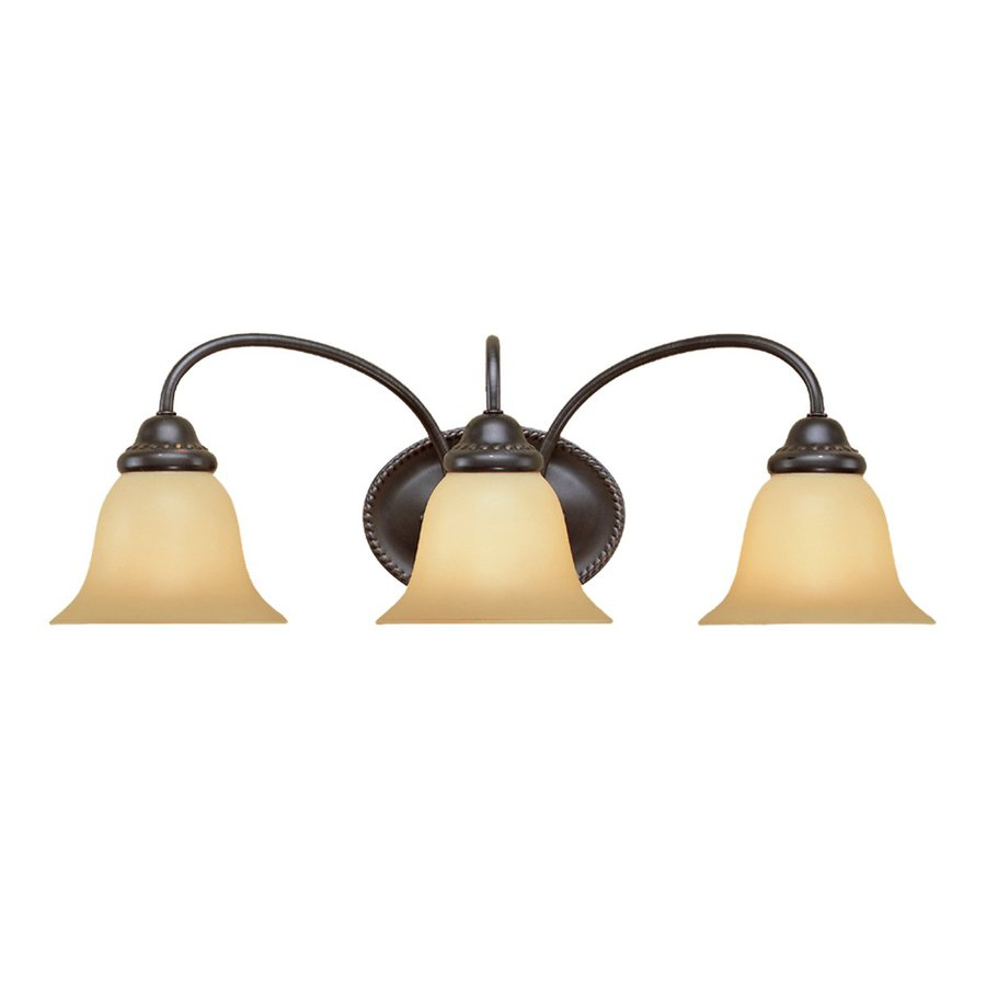 Millennium Lighting 3-Light 8.25-in Colonial Bronze Bell Vanity Light