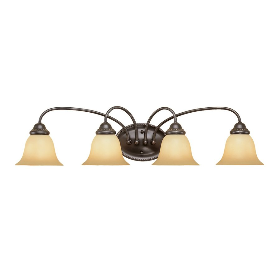 Millennium Lighting 4-Light 8.25-in Colonial Bronze Bell Vanity Light