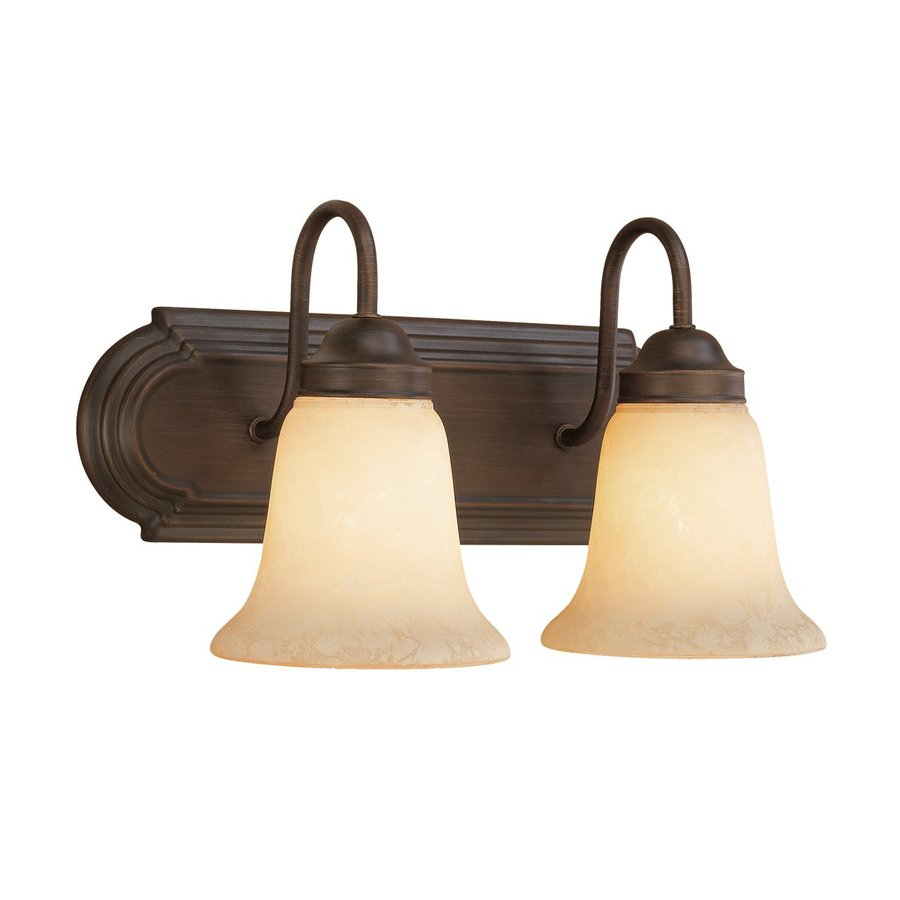 Millennium Lighting 2-Light 8.5-in Rubbed Bronze Bell Vanity Light