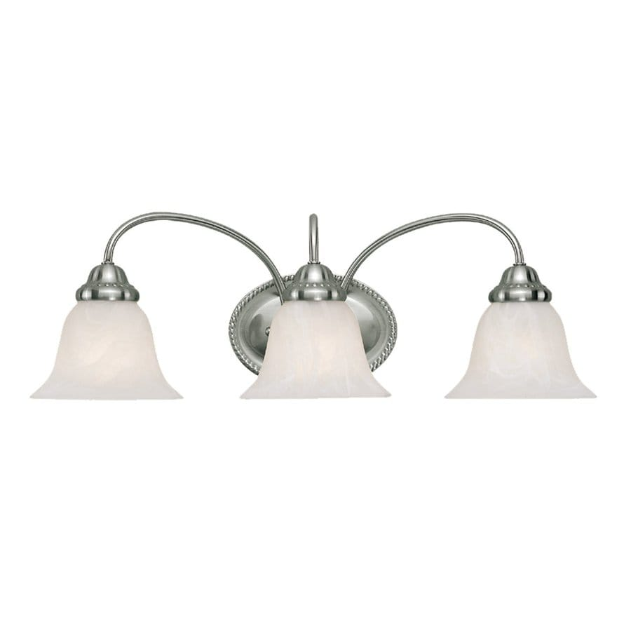 Millennium Lighting 3-Light 8.25-in Satin Nickel Bell Vanity Light