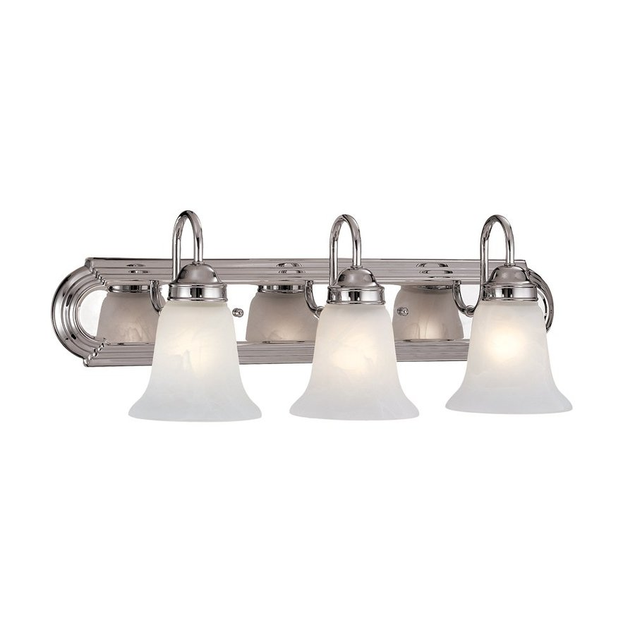 Shop Millennium Lighting 3 Light 8 5 In Chrome Bell Vanity Light At