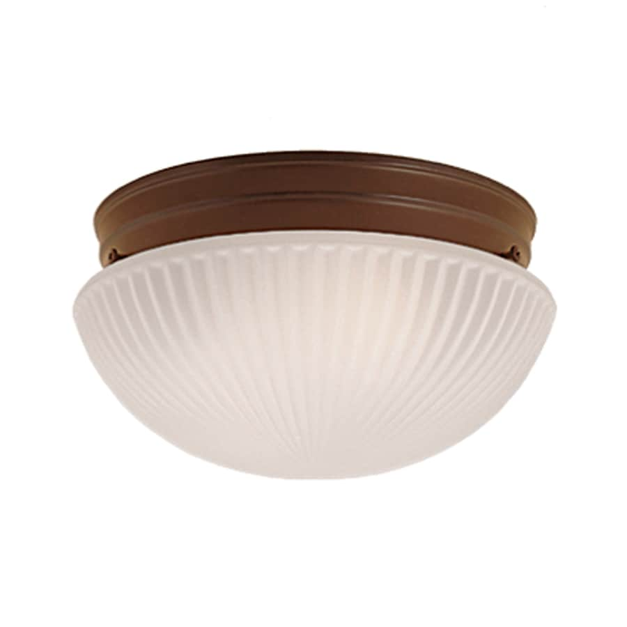 Millennium Lighting 9.5-in W Bronze Flush Mount Light