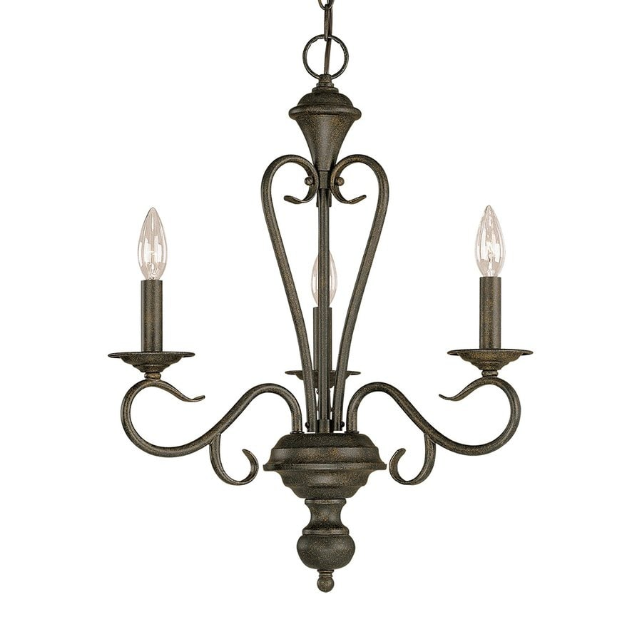 Millennium Lighting Devonshire 19.5-in 3-Light Burnished Gold Vintage Candle Chandelier