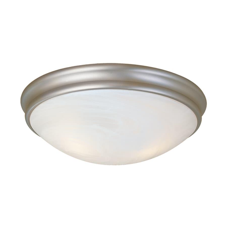 Millennium Lighting 10-in W Satin Nickel  Standard Flush Mount Light