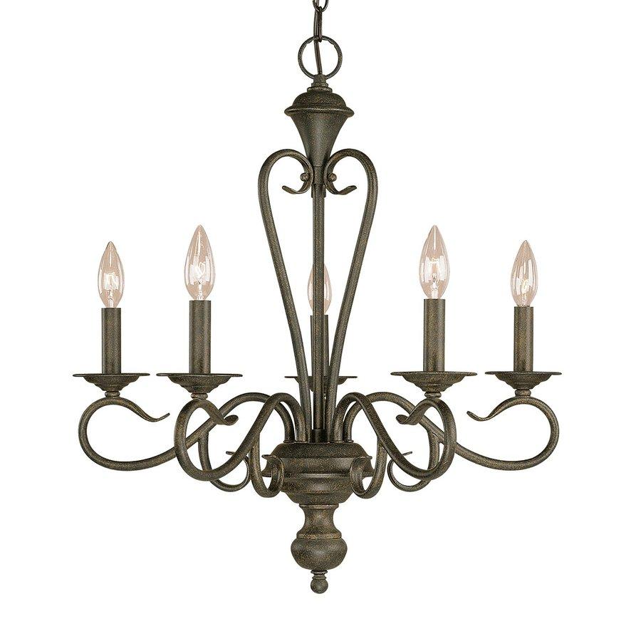 Millennium Lighting Devonshire 22.5-in 5-Light Burnished Gold Vintage Candle Chandelier
