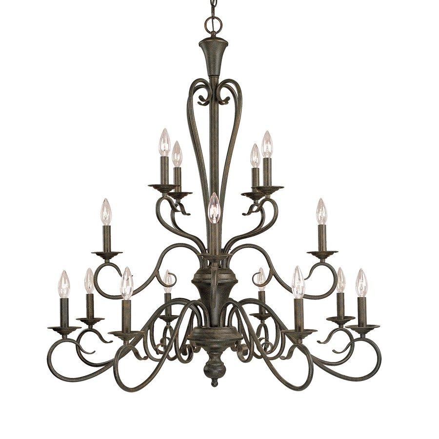 Millennium Lighting Devonshire 36.5-in 16-Light Burnished Gold Vintage Candle Chandelier
