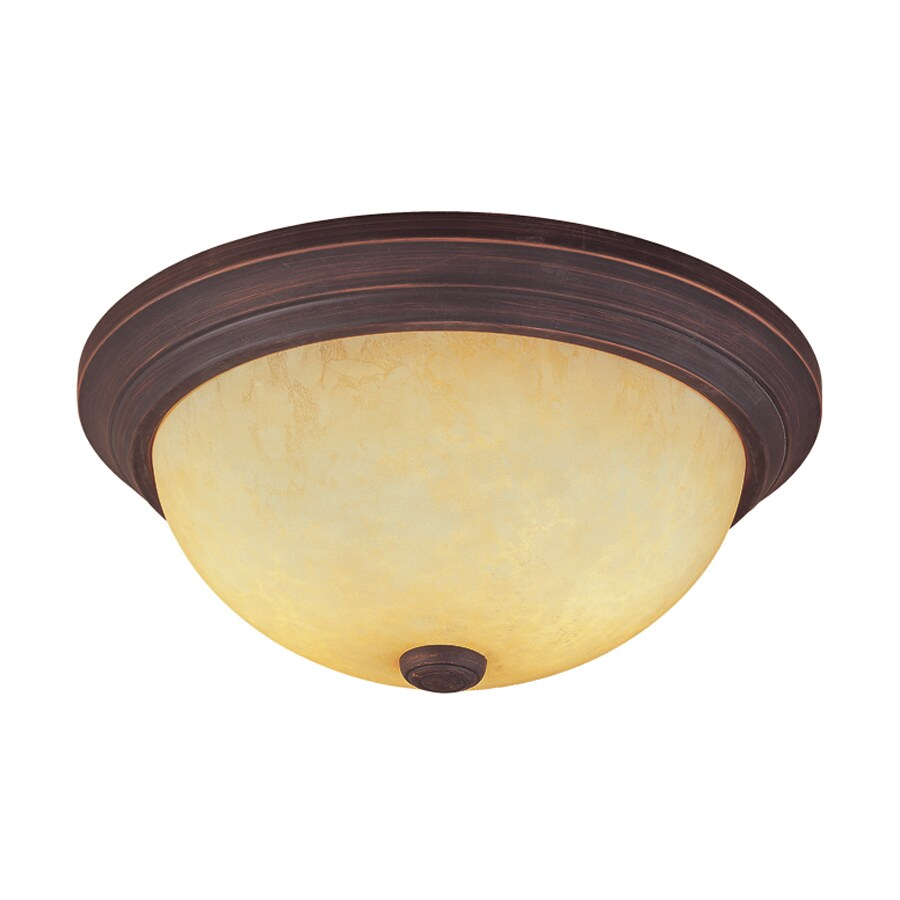 Millennium Lighting 15-in W Rubbed Bronze Flush Mount Light