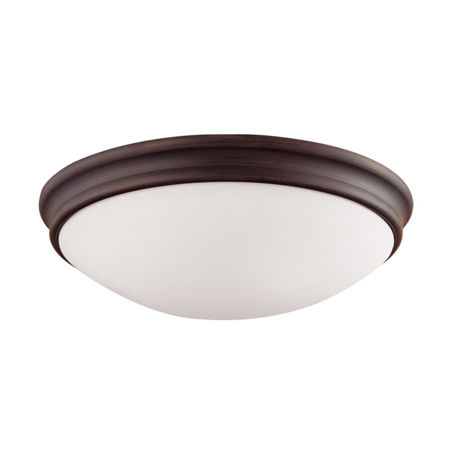 Millennium Lighting 12-in W Rubbed Bronze Flush Mount Light