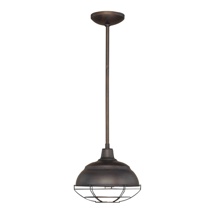 Millennium Lighting Neo-Industrial 10.25-in Rubbed Bronze Industrial Mini Warehouse Pendant