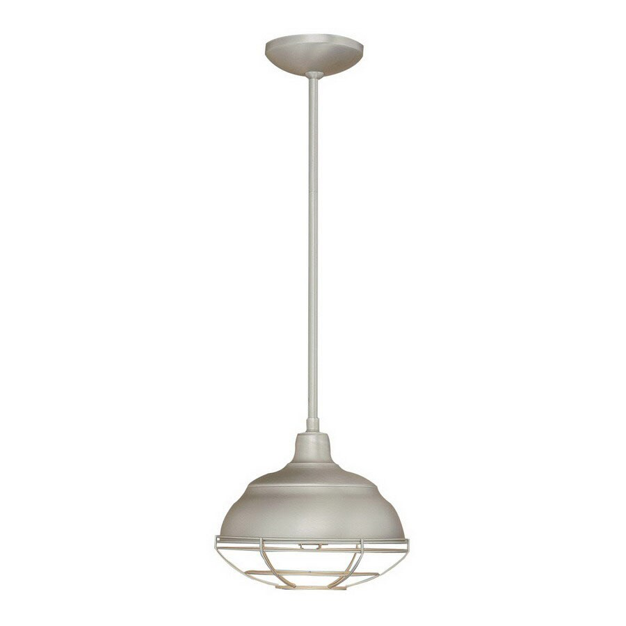 Millennium Lighting Neo-Industrial 10.25-in Satin Nickel Industrial Mini Warehouse Pendant