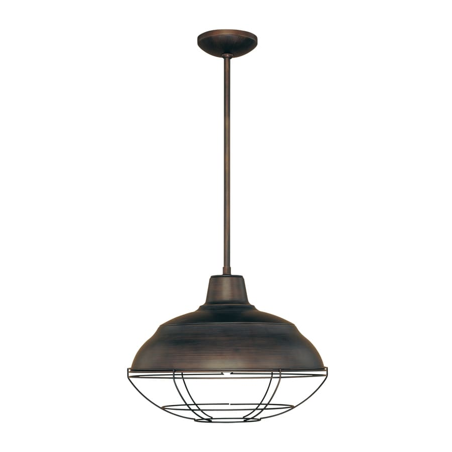 Shop millennium lighting neo industrial 17 in rubbed bronze millennium lighting neo industrial 17 in rubbed bronze industrial single warehouse pendant mozeypictures Image collections