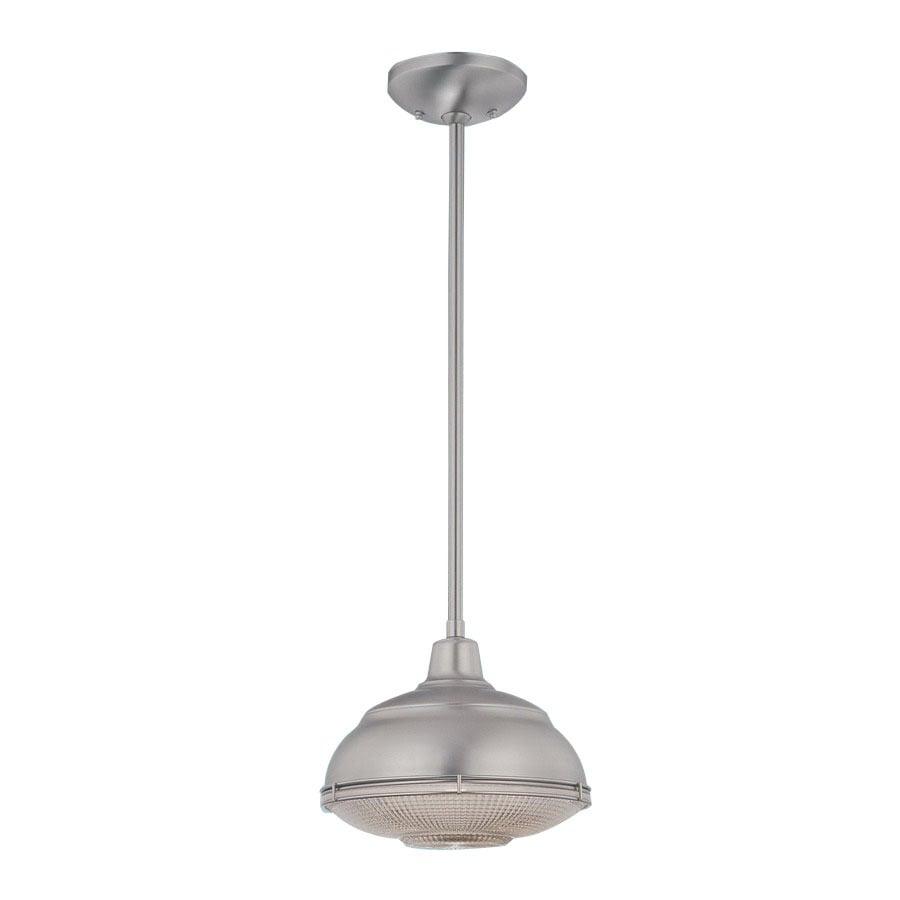 Millennium Lighting Neo-Industrial 10-in Satin Nickel Industrial Mini Warehouse Pendant