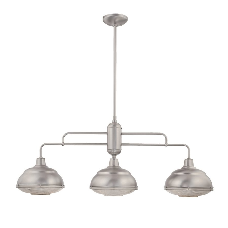 Shop Millennium Lighting Neo Industrial 3 Light Satin Nickel Kitchen Island Light With Metal