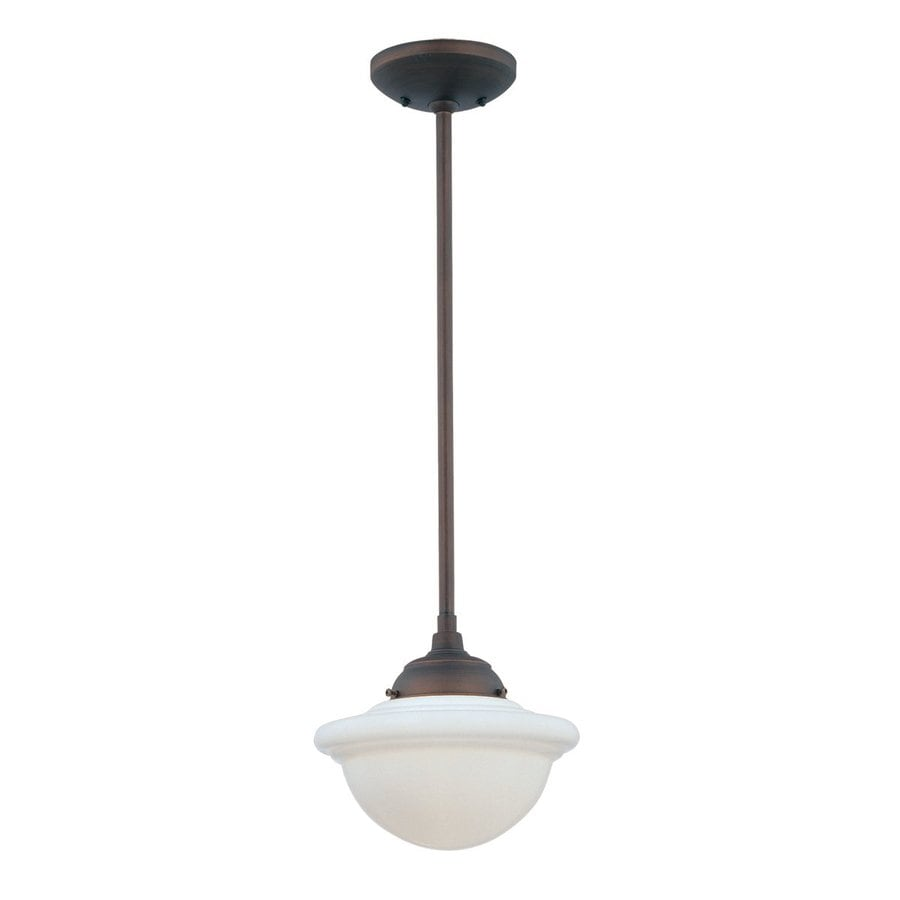 Millennium Lighting Neo-Industrial 9.5-in Rubbed Bronze Industrial Mini Schoolhouse Pendant