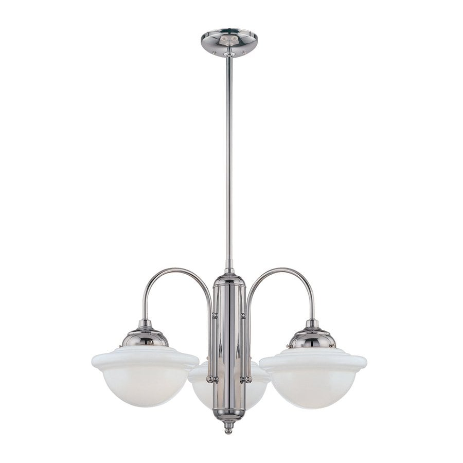 Millennium Lighting Neo-Industrial 26-in 3-Light Chrome Industrial Shaded Chandelier