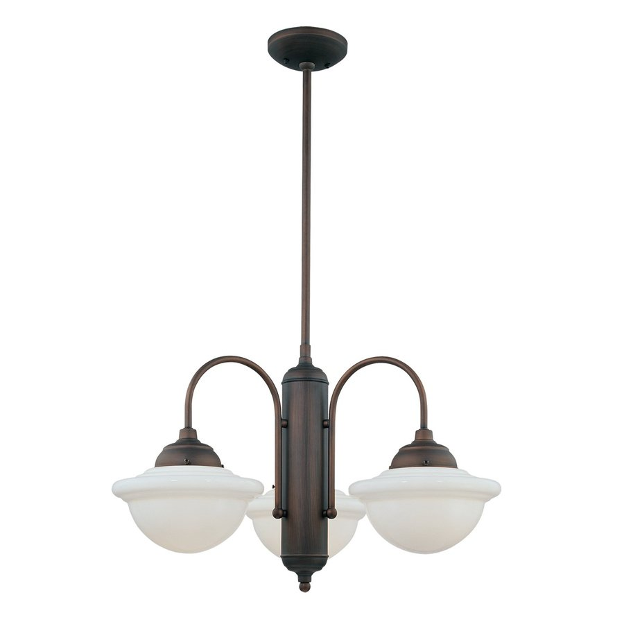 Millennium Lighting Neo-Industrial 26-in 3-Light Rubbed bronze Industrial Shaded Chandelier