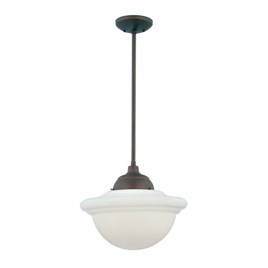 Millennium Lighting Neo Industrial 15 In Rubbed Bronze Industrial Single  Schoolhouse Pendant