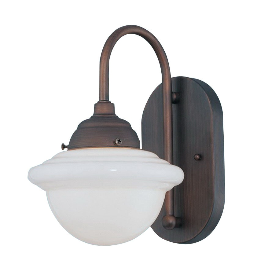 Millennium Lighting Neo-Industrial 7-in W 1-Light Rubbed Bronze Arm Wall Sconce