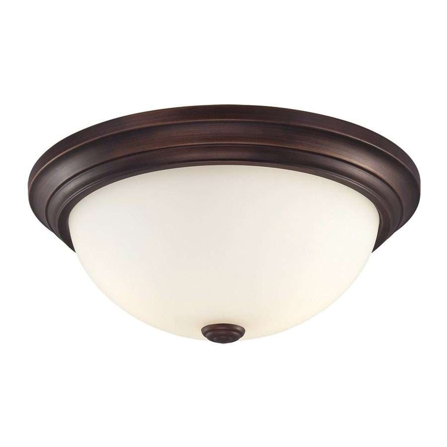 Millennium Lighting 13-in W Rubbed bronze Flush Mount Light