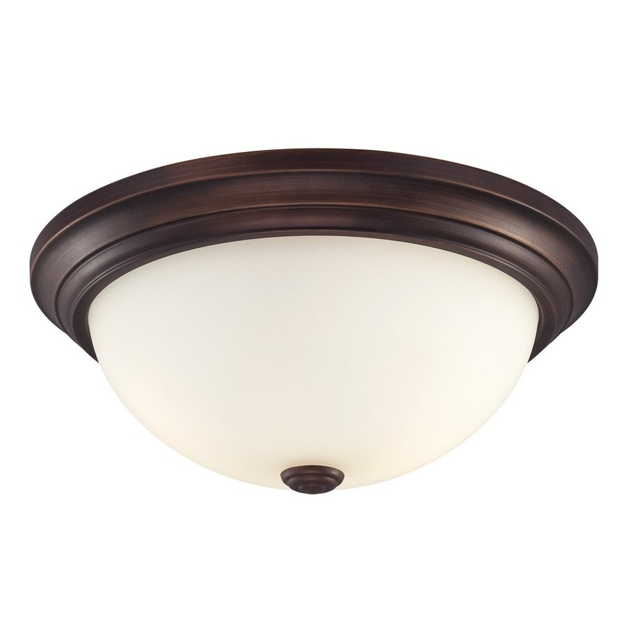 Millennium Lighting 15-in W Rubbed Bronze Ceiling Flush Mount Light