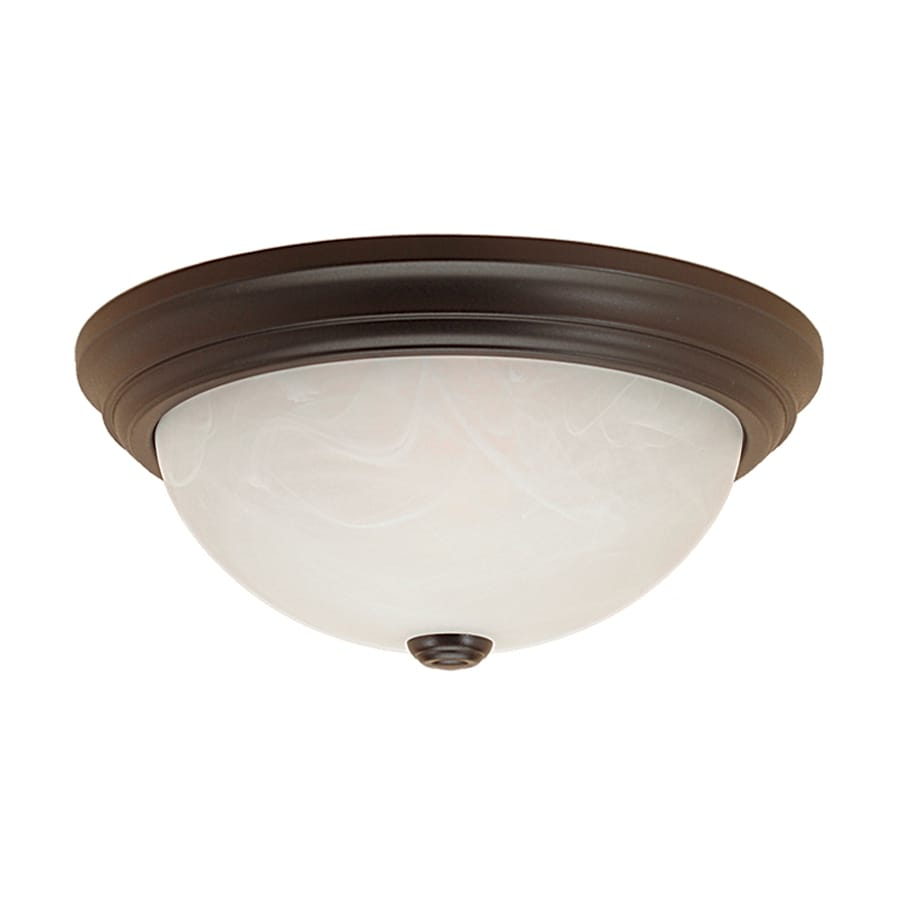 Millennium Lighting 13-in W Fine textured black Flush Mount Light