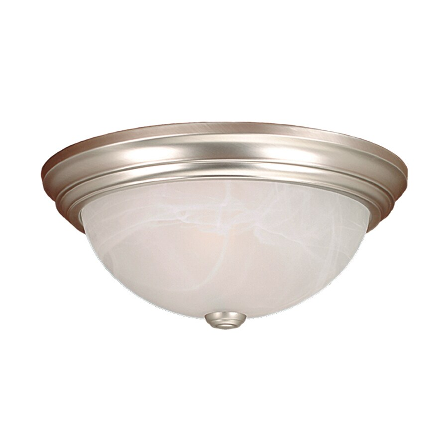 Millennium Lighting 13-in W Satin Nickel Ceiling Flush Mount Light