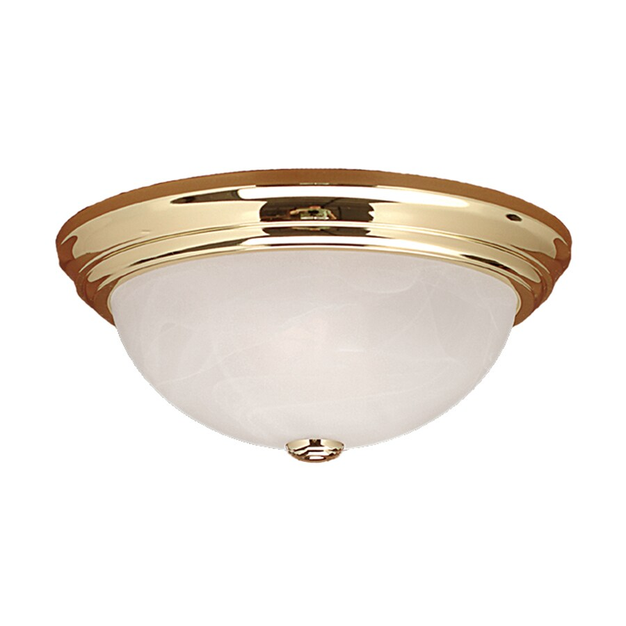 Millennium Lighting 15-in W Polished Brass Flush Mount Light