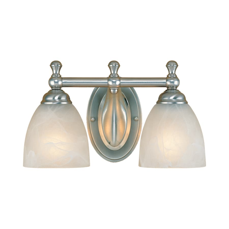Millennium Lighting 2-Light 8-in Satin Nickel Bell Vanity Light