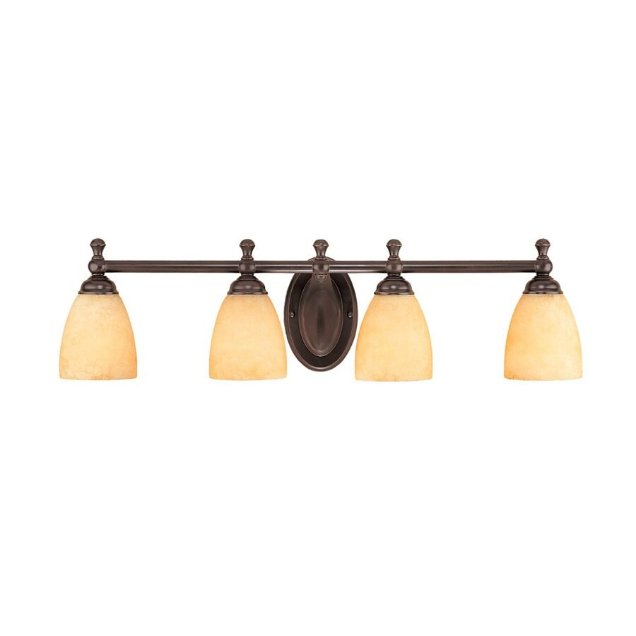 Millennium Lighting 4-Light 8-in Euro Bronze Bell Vanity Light