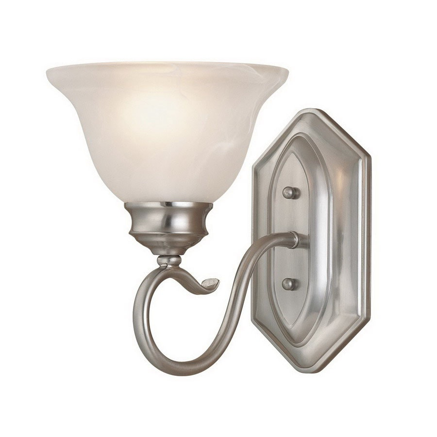 Adjustable Wall Sconce Lowe S : Shop Millennium Lighting Devonshire 6.75-in W 1-Light Satin Nickel Arm Wall Sconce at Lowes.com