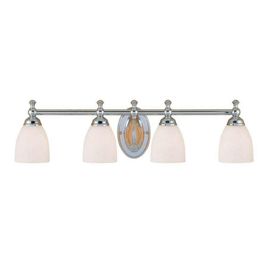 Shop Millennium Lighting 4 Light 8 In Chrome Bell Vanity Light At