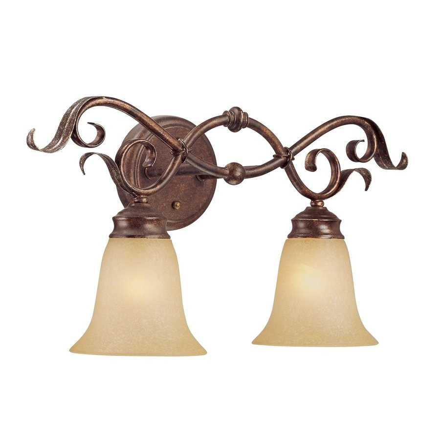 Millennium Lighting 2-Light Burled Bronze/Silver Vanity Light