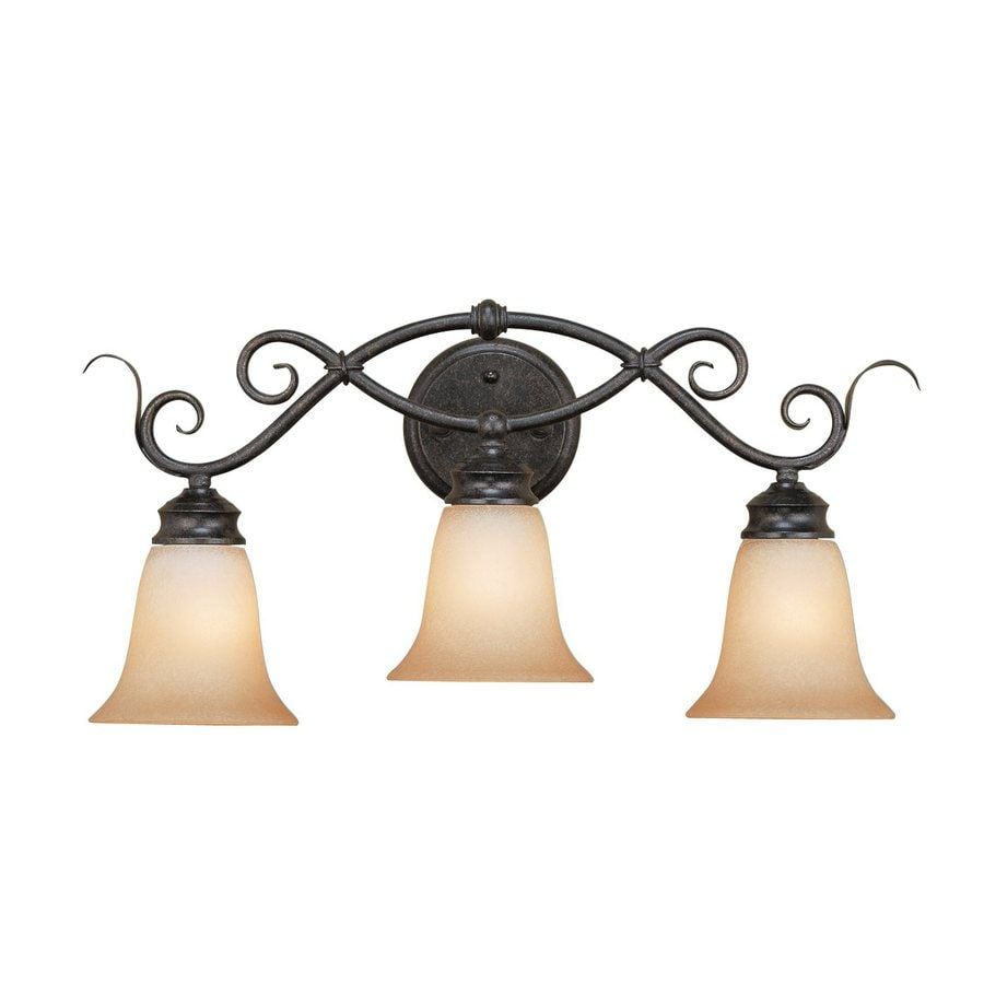 Millennium Lighting 3-Light 11-in Charcoal/burnished gold Bell Vanity Light