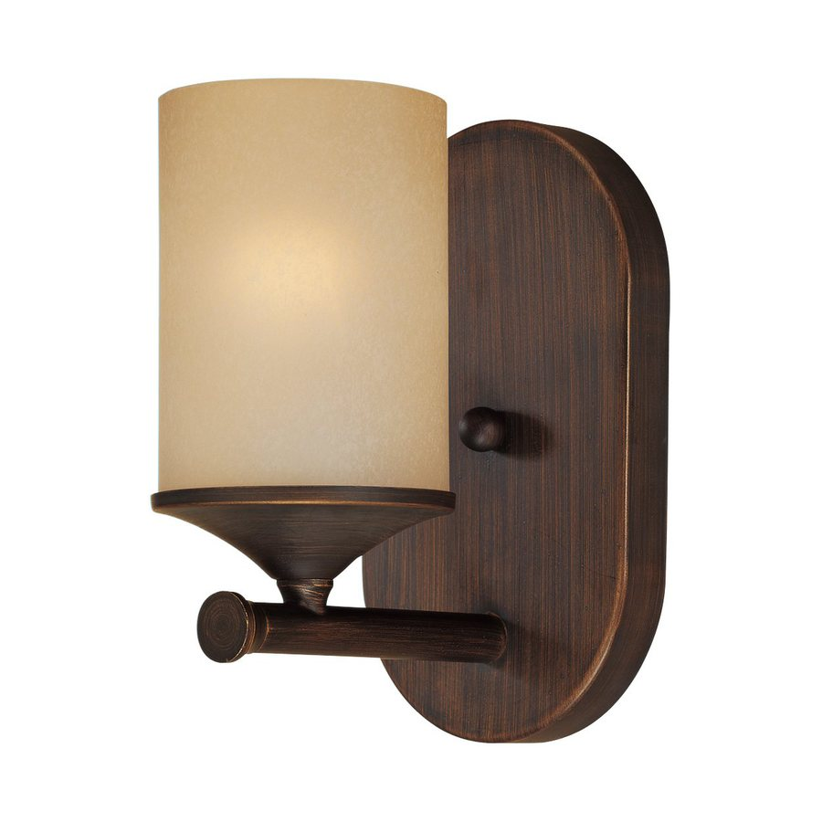 Millennium Lighting 1-Light 8-in Rubbed Bronze Cylinder Vanity Light
