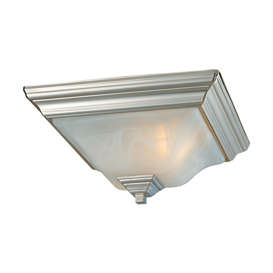 Millennium Lighting 13-in W Satin nickel Flush Mount Light