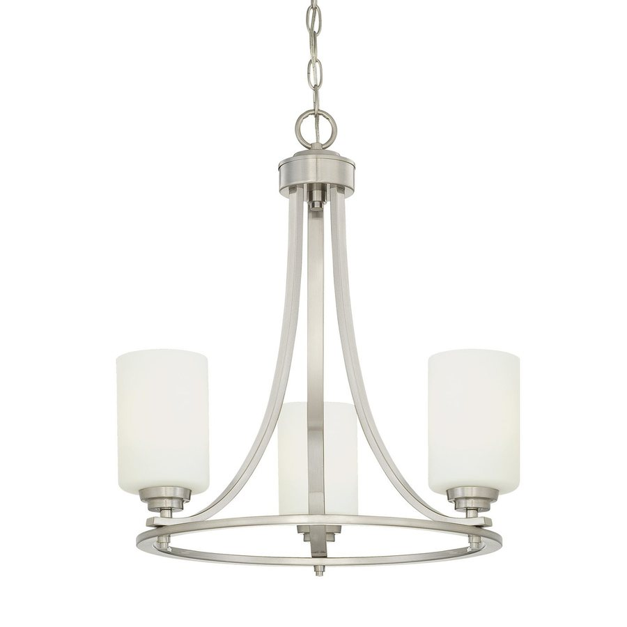 Shop Millennium Lighting Bristo 19 5 In 3 Light Satin Nickel Etched Glass Sha