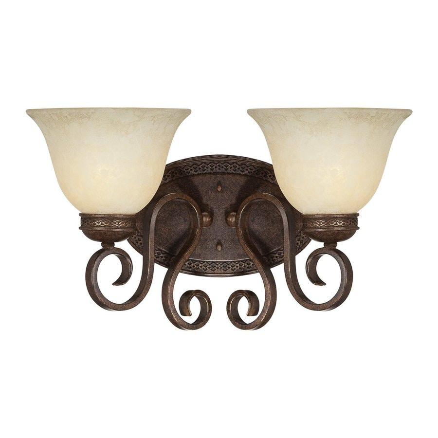 Millennium Lighting Alma 2-Light 10-in Bronze/Gold Bell Vanity Light