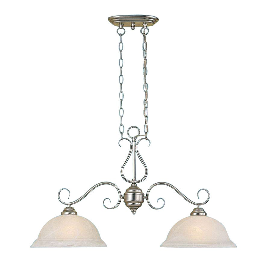 Millennium Lighting Manchester W 2-Light Satin Nickel Kitchen Island Light with Shade