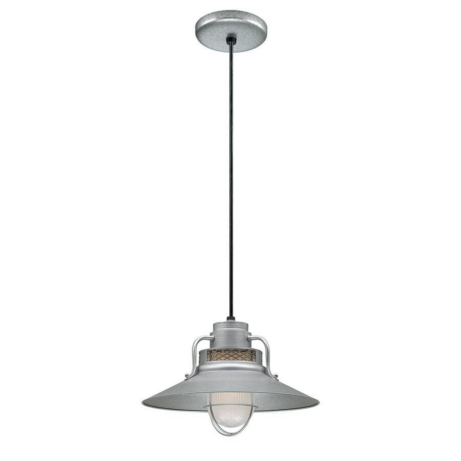 Millennium Lighting R Series 14-in Galvanized Barn Mini Warehouse Pendant