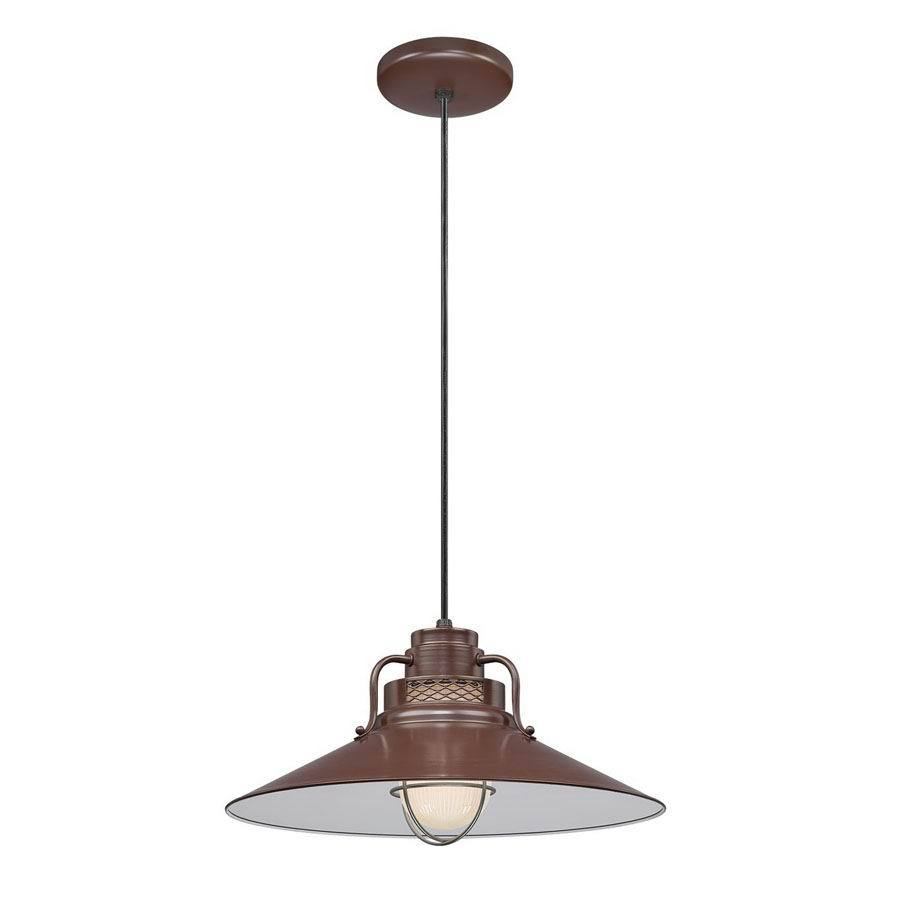 Millennium Lighting R Series 18-in Architectural Bronze Barn Mini Warehouse Pendant