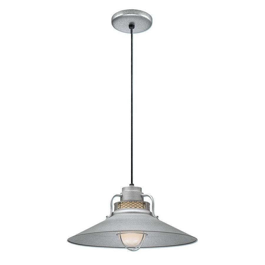 Millennium Lighting R Series 18-in Galvanized Barn Mini Warehouse Pendant