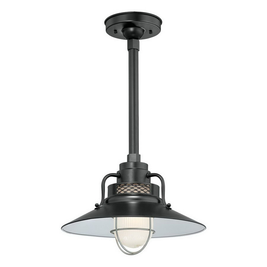 Millennium Lighting R Series 9.5-in H Black Outdoor Pendant Light